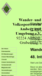 Mobile Preview of amberg-wandern.de